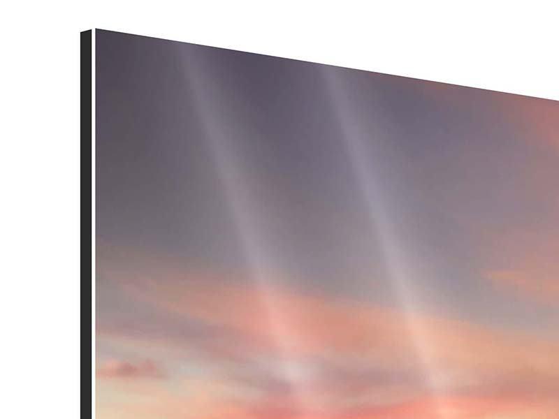 Panorama Aluminiumbild 3-teilig Paradiesische Brücke