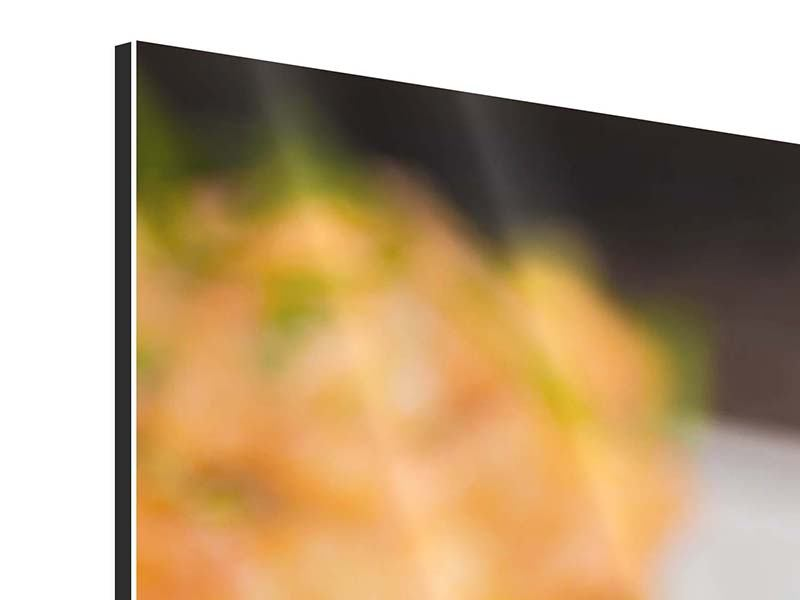 Panorama Aluminiumbild 3-teilig Asiatische Küche