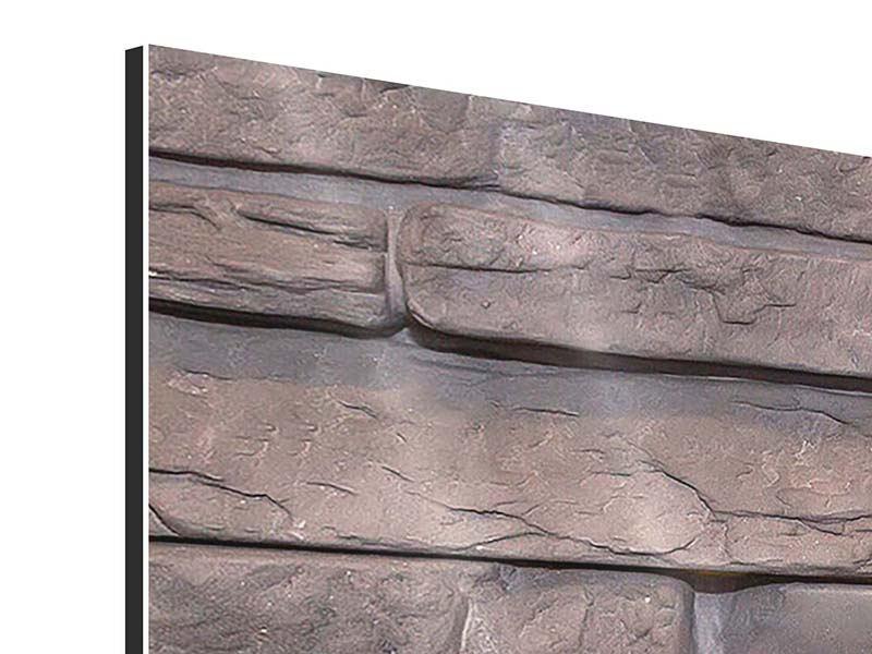 Panorama Aluminiumbild 3-teilig Luxusmauer