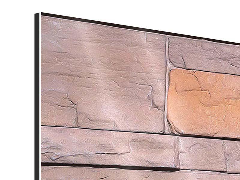 Panorama Aluminiumbild 3-teilig Wall