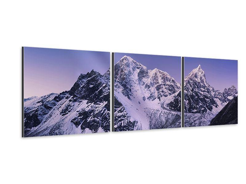 Panorama Aluminiumbild 3-teilig Taboche und Cholatse