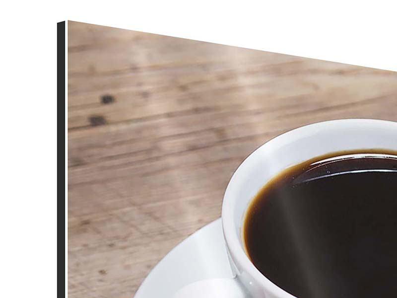 Panorama Aluminiumbild 3-teilig Coffee