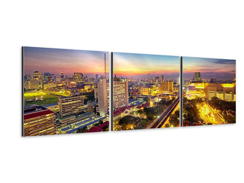 Panorama Aluminiumbild 3-teilig Bangkok