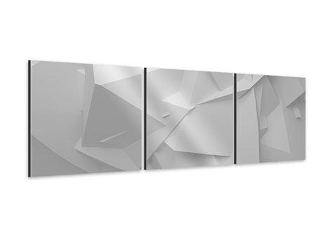 Panorama Aluminiumbild 3-teilig 3D-Raster