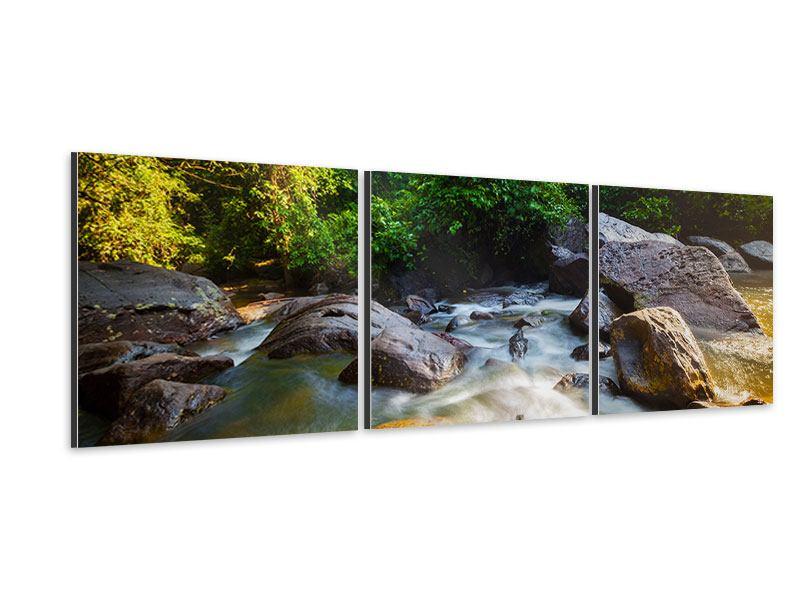 Panorama Aluminiumbild 3-teilig Das Gewässer