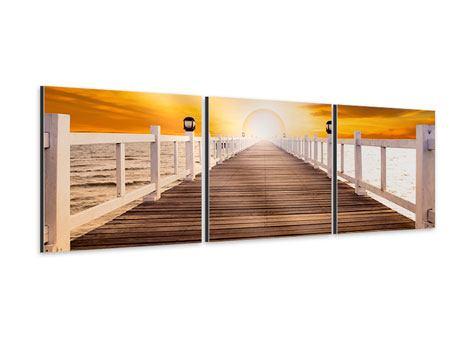 Panorama Aluminiumbild 3-teilig Die Brücke Ins Glück