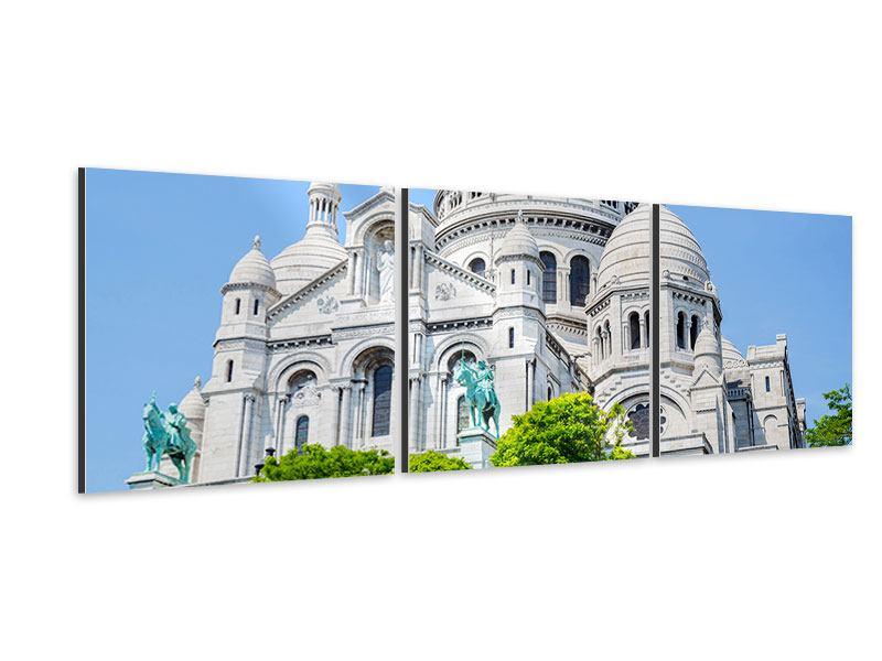 Panorama Aluminiumbild 3-teilig Paris- Montmartre