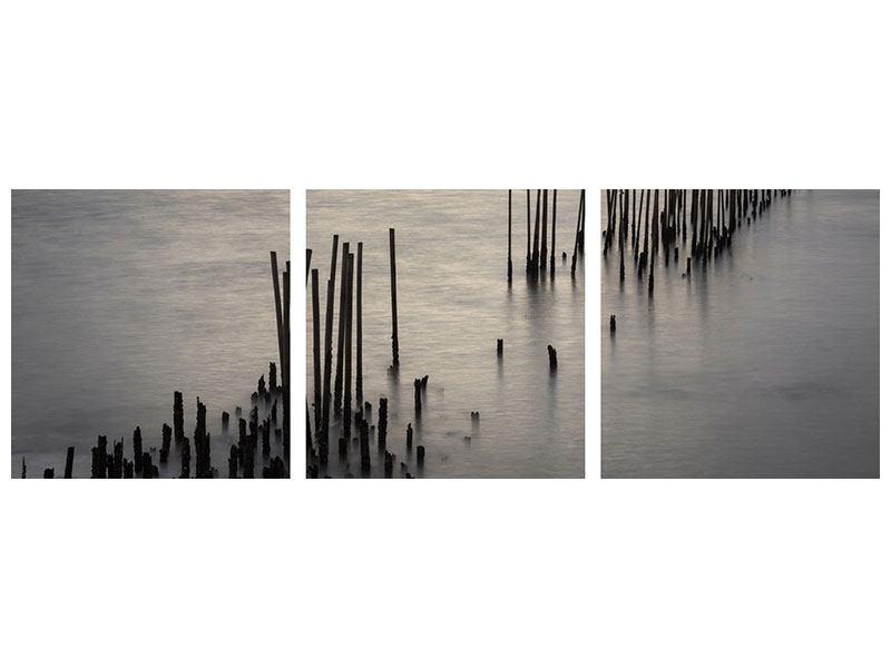 Panorama Aluminiumbild 3-teilig Das Meer und die Träne