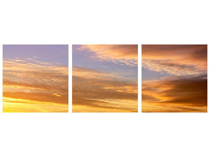 Panorama Aluminiumbild 3-teilig Himmlisch