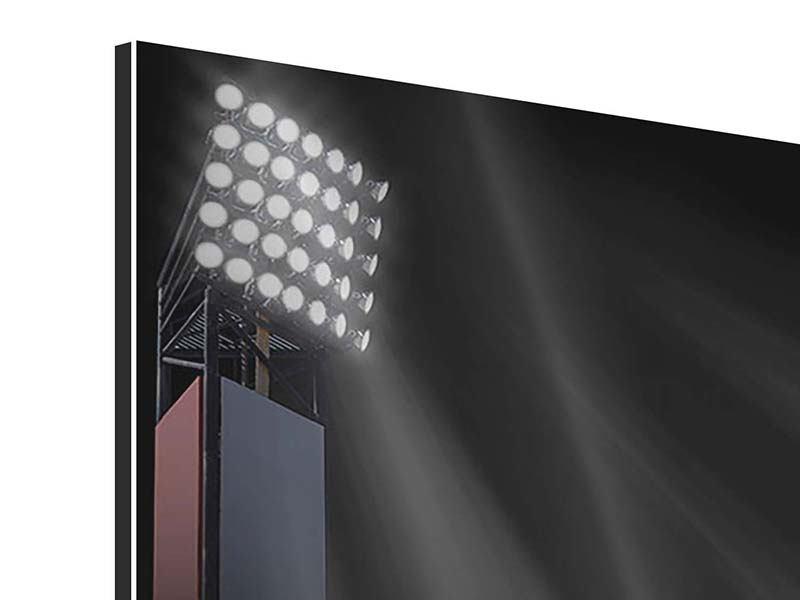 Panorama Aluminiumbild 3-teilig Fussball-Tor