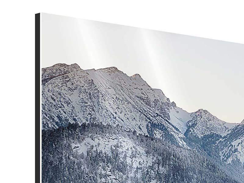 Panorama Aluminiumbild 3-teilig Schloss Neuschwanstein im Ammergebierge