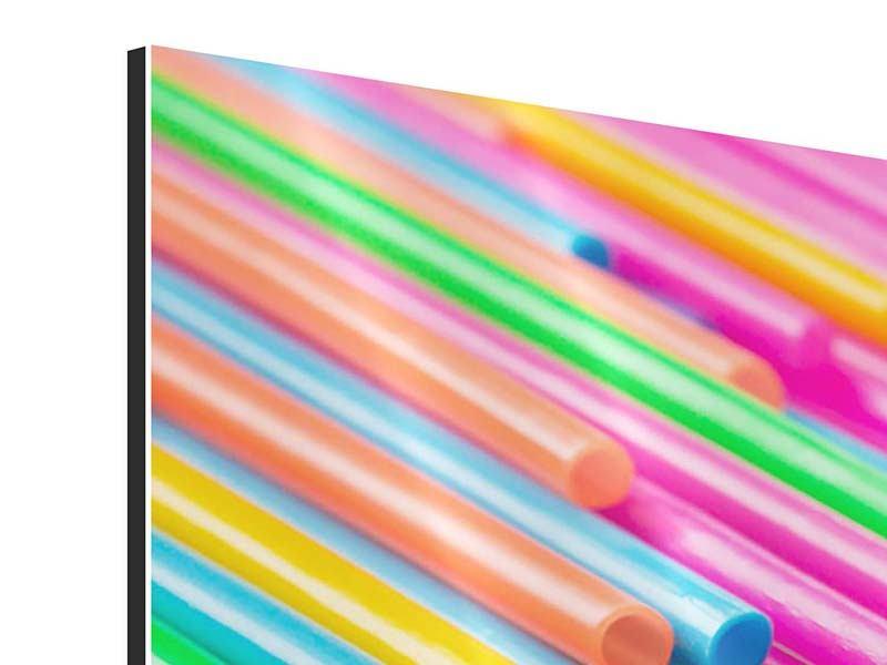 Panorama Aluminiumbild 3-teilig Pop Art