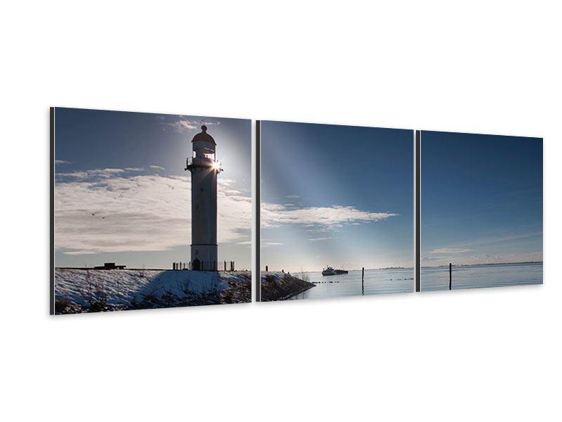 Panorama Aluminiumbild 3-teilig Sailing