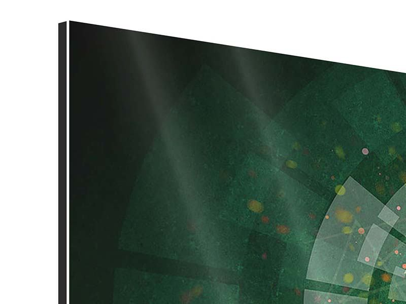 Panorama Aluminiumbild 3-teilig Der Kicker