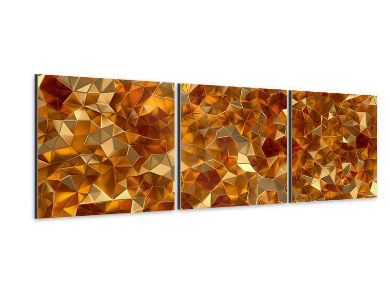 Panorama Aluminiumbild 3-teilig 3D-Bernsteine