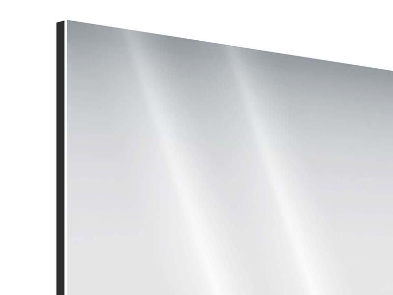 Panorama Aluminiumbild 3-teilig Wasserfigur