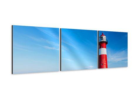Panorama Aluminiumbild 3-teilig Der Leuchtturm