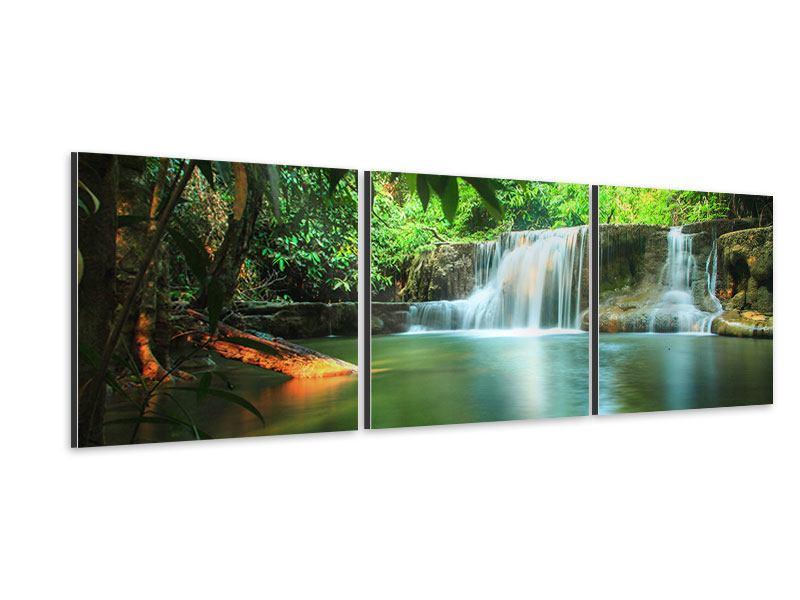 Panorama Aluminiumbild 3-teilig Element Wasser