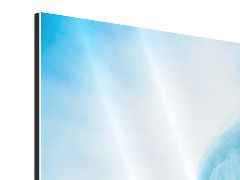 Panorama Aluminiumbild 3-teilig Die Eiswand