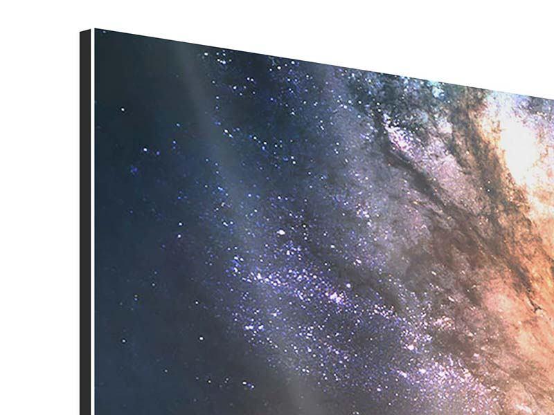 Panorama Aluminiumbild 3-teilig Universus