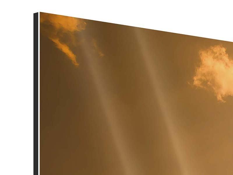 Panorama Aluminiumbild 3-teilig Abendhimmel