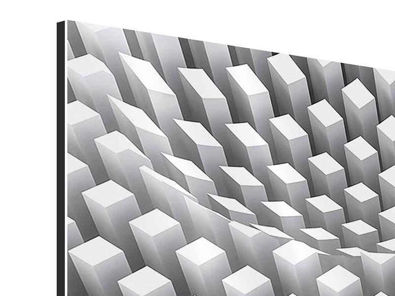 Panorama Aluminiumbild 3-teilig 3D-Rasterdesign