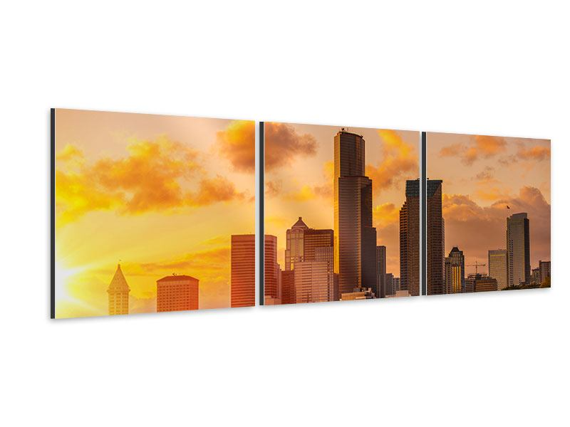 Panorama Aluminiumbild 3-teilig Skyline Washington