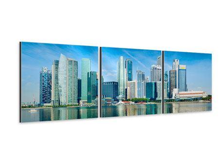 Panorama Aluminiumbild 3-teilig Skyline Mexiko-Stadt