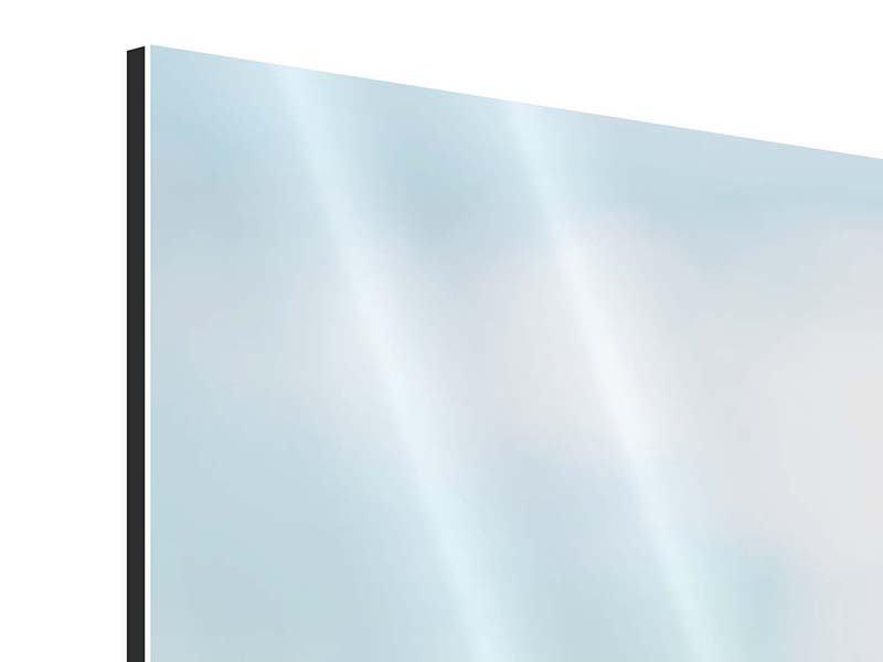 Panorama Aluminiumbild 3-teilig Die Hortensie