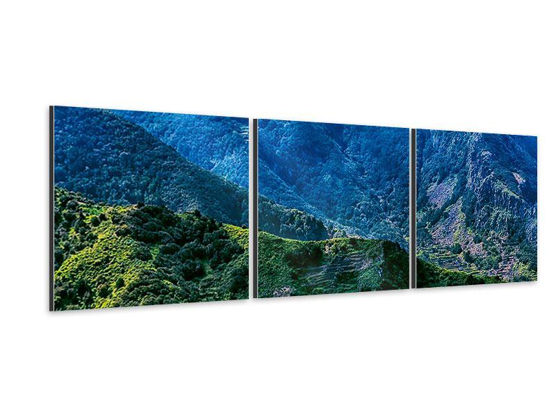 Panorama Aluminiumbild 3-teilig Die Berglandschaft