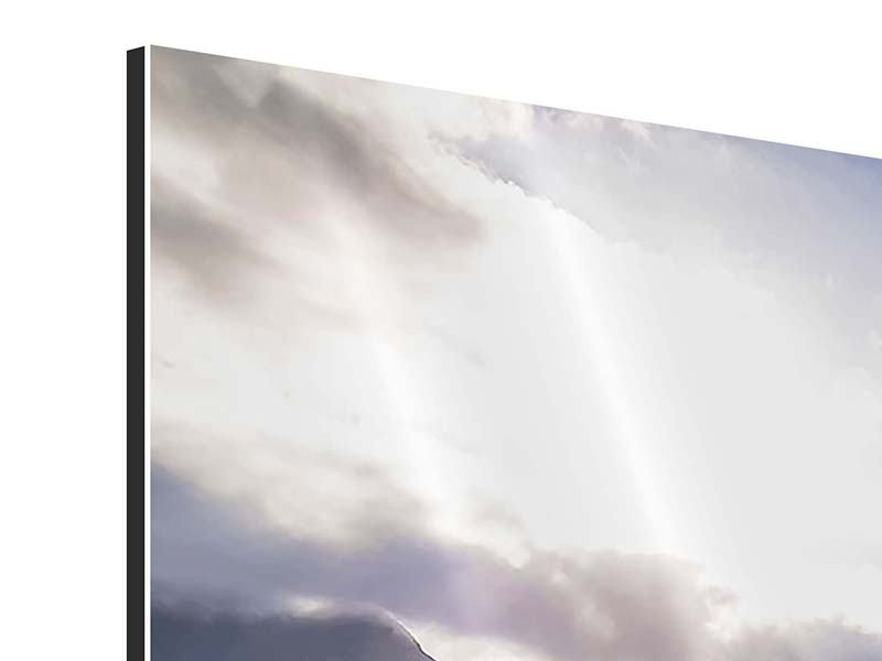 Panorama Aluminiumbild 3-teilig Der Frühling in den Bergen