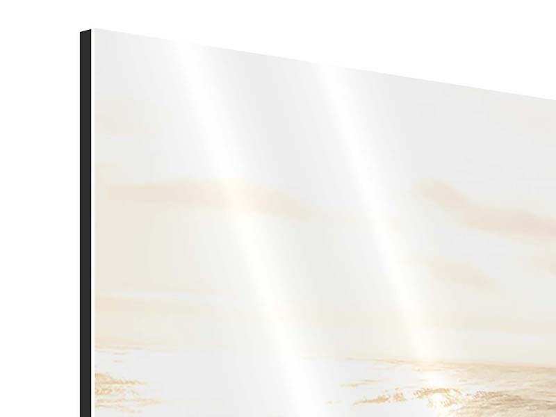 Panorama Aluminiumbild 3-teilig Meeresbrandung