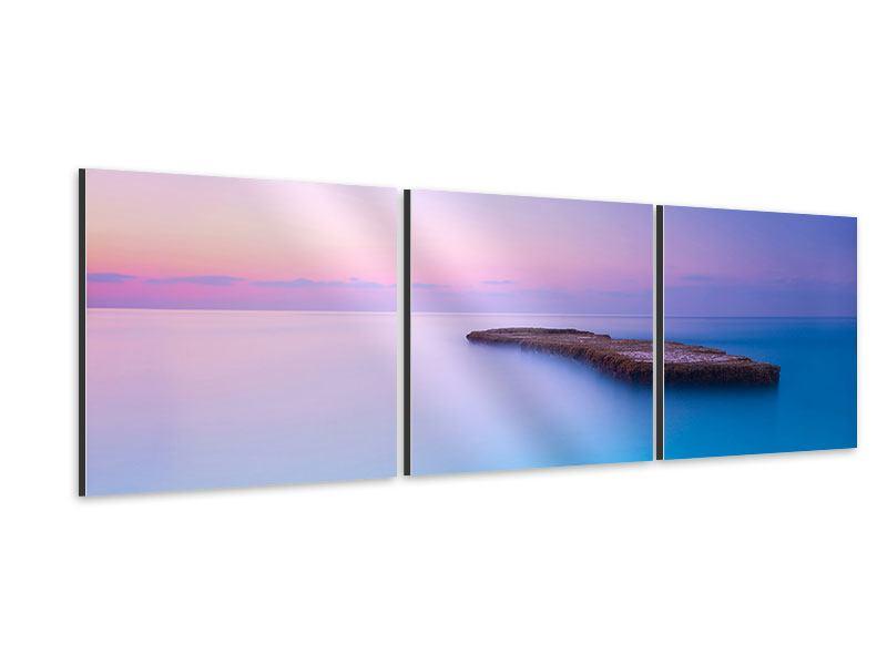 Panorama Aluminiumbild 3-teilig Unendlicher Ozean