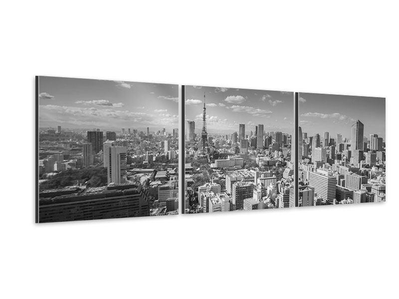 Panorama Aluminiumbild 3-teilig Tokio