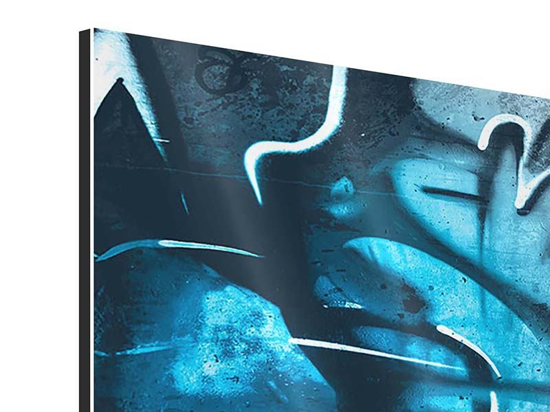 Panorama Aluminiumbild 3-teilig Painting On The Wall