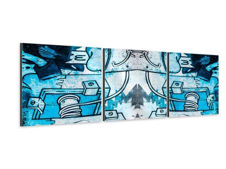 Panorama Aluminiumbild 3-teilig Graffiti