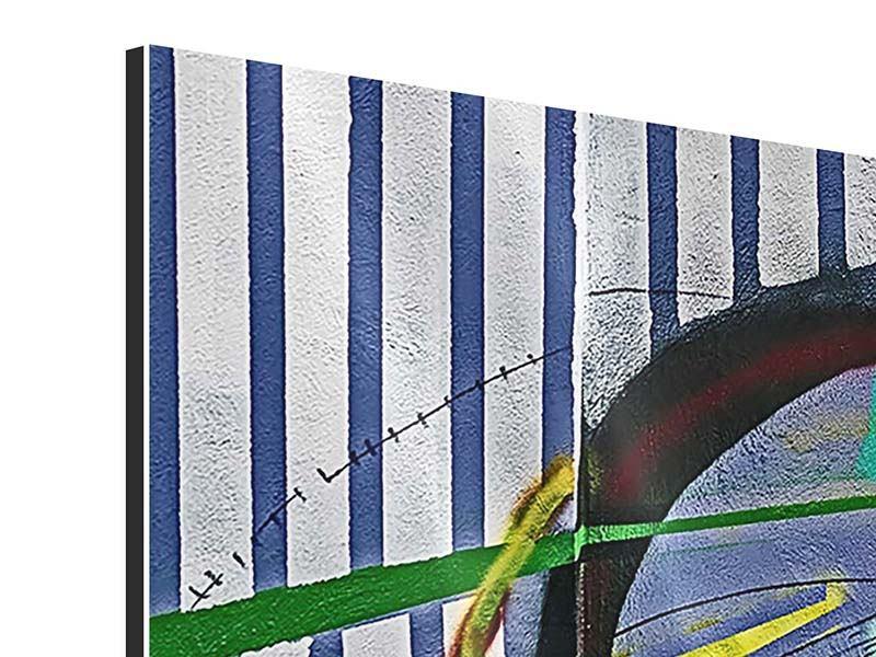 Panorama Aluminiumbild 3-teilig Künstlerisches Graffiti