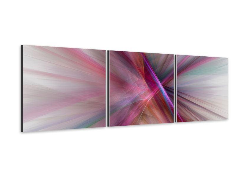Panorama Aluminiumbild 3-teilig Abstraktes Lichterleuchten