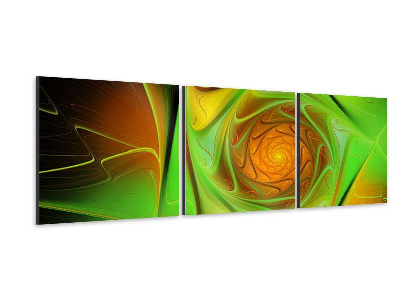 Panorama Aluminiumbild 3-teilig Abstraktionen