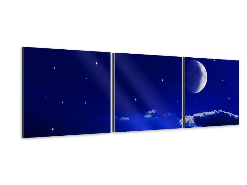 Panorama Aluminiumbild 3-teilig Der Nachthimmel