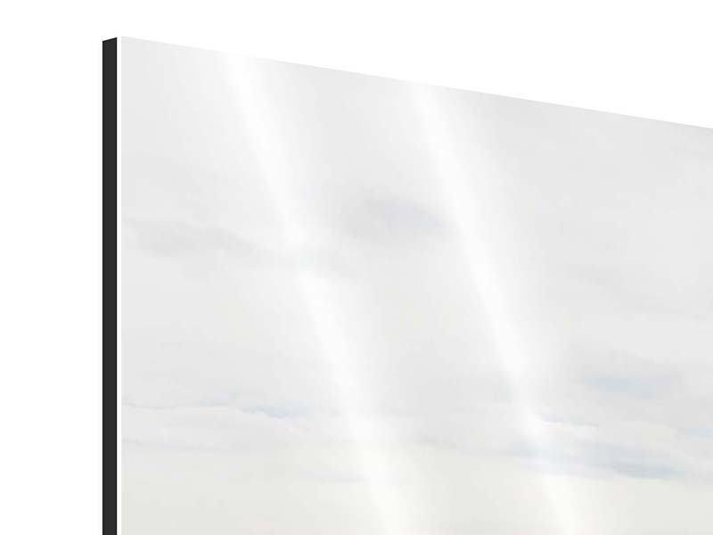 Panorama Aluminiumbild 3-teilig Leise Wellen