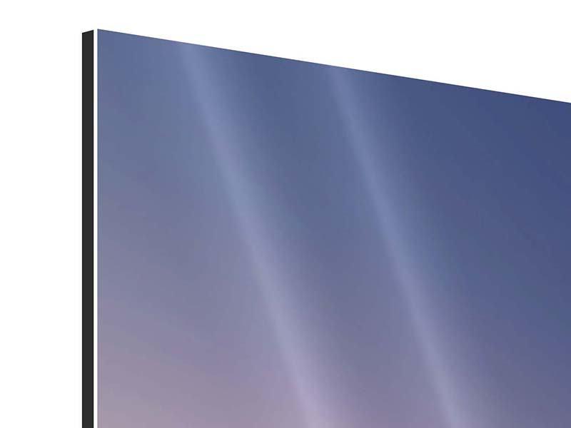 Panorama Aluminiumbild 3-teilig Das Segelschiff