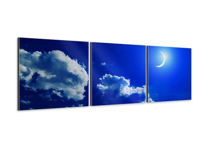 Panorama Aluminiumbild 3-teilig Der Mond