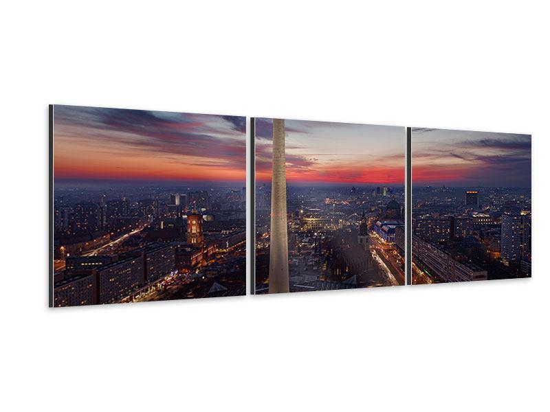 Panorama Aluminiumbild 3-teilig Berlin