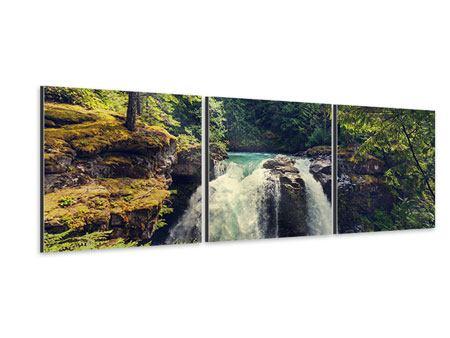 Panorama Aluminiumbild 3-teilig Flussströmung