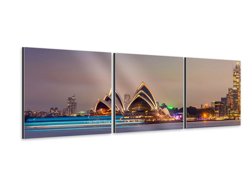 Panorama Aluminiumbild 3-teilig Opera House