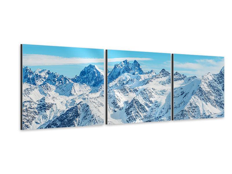 Panorama Aluminiumbild 3-teilig Alpenpanorama