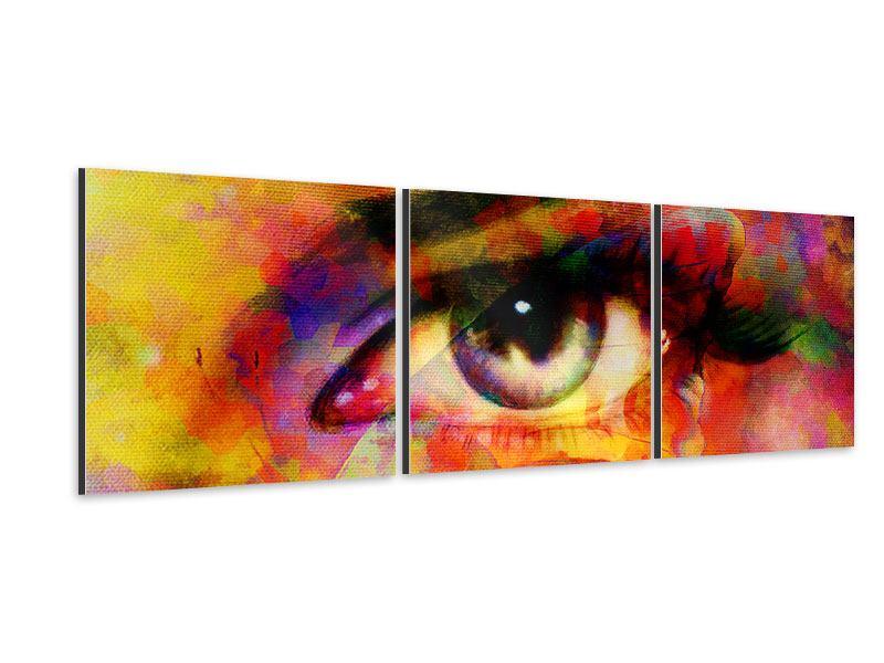 Panorama Aluminiumbild 3-teilig Das Auge