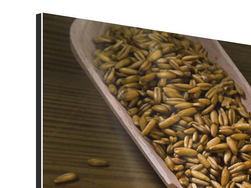 Panorama Aluminiumbild 3-teilig Das Brot