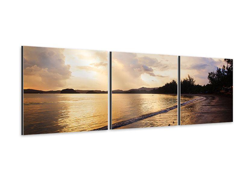 Panorama Aluminiumbild 3-teilig Das Ufer